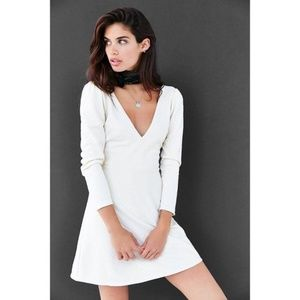 Urban Outfitters Cooperative Textured Plunge Dress